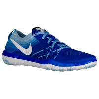 Nike Free TR Focus Flyknit Femmes sneakers bleu/blanc UXZ149
