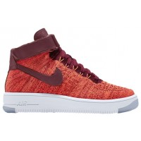Nike Air Force 1 Hi Flyknit Femmes baskets Orange/bordeaux DHU267
