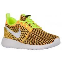 Nike Roshe One Flyknit Femmes chaussures de sport vert clair/blanc TDK817