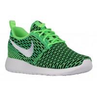 Nike Roshe One Flyknit Femmes baskets vert clair/blanc FEO896