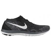 Nike Free 3.0 Flyknit Femmes chaussures de course noir/blanc TIK030