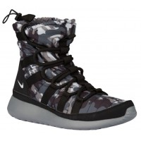 Nike Roshe One Hi Print Winterized Sneakerboot Femmes sneakers noir/gris CZL473