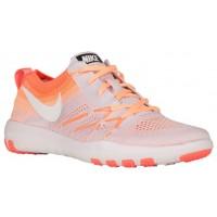 Nike Free TR Focus Flyknit Femmes chaussures de course blanc/Orange AAF230
