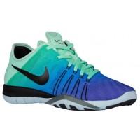 Nike Free TR 6 Femmes chaussures de course vert clair/bleu ZAC259