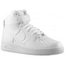 Nike Air Force 1 High Hommes chaussures Tout blanc/blanc UWJ397