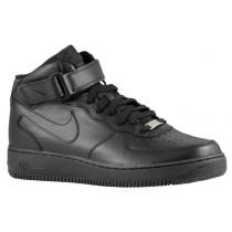 Nike Air Force 1 Mid Hommes chaussures Tout noir/noir LSI478