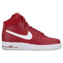Nike Air Force 1 High Hommes chaussures de sport rouge/blanc JUS385