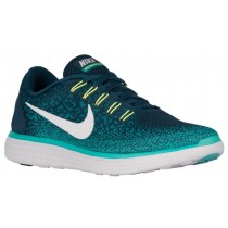 Nike Free RN Distance Hommes sneakers vert foncé/blanc QOX837