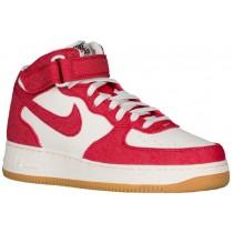 Nike Air Force 1 Mid Hommes sneakers rouge/blanc OWU627