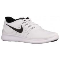 Nike Free RN Hommes chaussures blanc/noir JVQ349