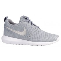 Nike Roshe One Flyknit NM Hommes chaussures de sport gris/blanc UGU284