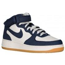 Nike Air Force 1 Mid Hommes chaussures de sport bleu marin/blanc RTD964
