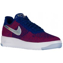 Nike Air Force 1 Ultra Flyknit Low PremiumHommes chaussures de sport rouge/bleu NTY704