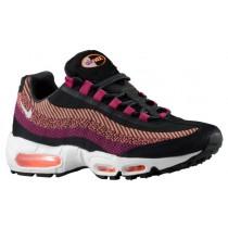 Nike Air Max 95 Jacquard Hommes chaussures de course noir/violet KQS753