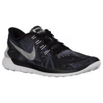 Nike Free 5.0 2015 Hommes chaussures de course noir/gris WGS435