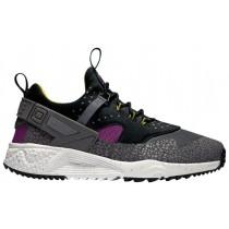 Nike Air Huarache Utility Premium Hommes baskets gris/noir/blanc FFS802