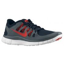Nike Free 5.0+ Hommes chaussures de course bleu marin/gris VDY690