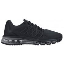 Nike Air Max 2015 Hommes chaussures Tout noir/noir ILU645