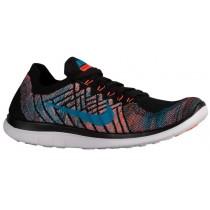 Nike Free 4.0 Flyknit 2015 Hommes chaussures de course noir/bleu clair FGL643