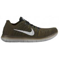 Nike Free RN Flyknit Hommes chaussures de course marron/noir JDO731