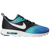 Nike Air Max Tavas Hommes chaussures de course noir/bleu clair CSV894
