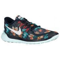 Nike Free 5.0 2015 Hommes chaussures bleu marin/blanc AGI118