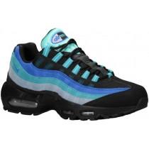 Nike Air Max 95 Hommes chaussures de course noir/bleu clair YDM908
