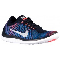 Nike Free 4.0 Flyknit 2015 Hommes sneakers bleu marin/rouge SYW825