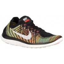 Nike Free 4.0 Flyknit 2015 Hommes chaussures de course noir/Orange DMK879