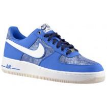 Nike Air Force 1 Low Nubuck Hommes chaussures bleu clair/blanc JGJ755