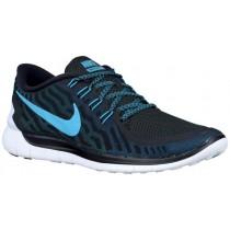 Nike Free 5.0 2015 Hommes chaussures de sport noir/bleu marin DSQ273