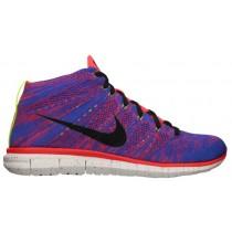 Nike Free Flyknit Chukka Hommes sneakers rouge/bleu TIM487