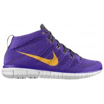 Nike Free Flyknit Chukka Hommes chaussures de sport violet/gris KBF387