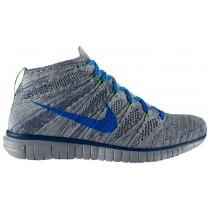 Nike Free Flyknit Chukka Hommes chaussures de course gris/bleu LTD760