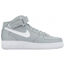 Nike Air Force 1 Mid Hommes baskets gris/blanc XRC011