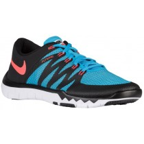 Nike Free Trainer 5.0 V6 Hommes chaussures de sport noir/bleu clair RPM028