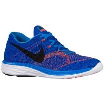 Nike Flyknit Lunar 3 Hommes chaussures de sport bleu/Orange YIU035