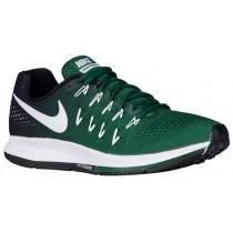 Nike Air Zoom Pegasus 33 Hommes chaussures de course vert foncé/blanc VSB536