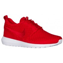 Nike Roshe One Flyknit NM Hommes chaussures de course rouge/blanc QTX192