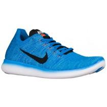 Nike Free RN Flyknit Hommes chaussures bleu clair/noir SPC209