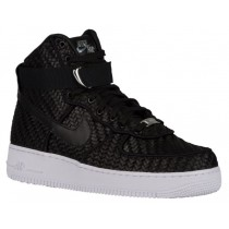 Nike Air Force 1 High LV8 Woven Hommes chaussures de sport noir/blanc SWJ444