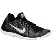 Nike Free 4.0 Flyknit 2015 Hommes chaussures de course noir/gris YEF364