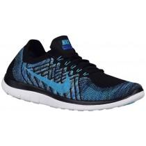 Nike Free 4.0 Flyknit 2015 Hommes baskets noir/bleu IIV774