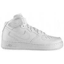 Nike Air Force 1 '07 Mid Femmes chaussures de sport Tout blanc/blanc FMU450