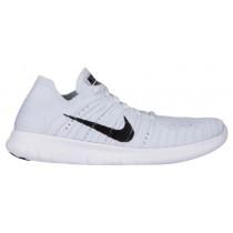 Nike Free RN Flyknit Femmes chaussures blanc/noir RMM354