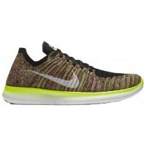 Nike Free RN Flyknit Femmes sneakers noir/vert clair DTD463