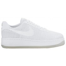 Nike Air Force 1 Low Upstep BR Femmes baskets blanc/gris GFF449