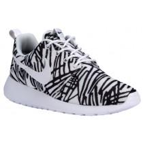 Nike Roshe One Print Femmes chaussures de sport blanc/noir GLC028