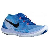 Nike Free 3.0 Flyknit Femmes baskets bleu clair/bleu PIH218