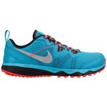 Nike Dual Fusion Trail Femmes chaussures de course bleu clair/rouge BNZ529